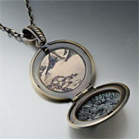 Necklace & Pendants - mountains pines spring painting pendant necklace Image.