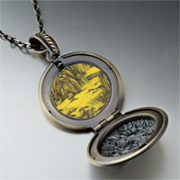 Necklace & Pendants - don yuan mountain hall painting pendant necklace Image.