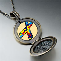 Necklace & Pendants - jigsaw puzzle ribbon awareness pendant necklace Image.