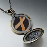 Necklace & Pendants - copper ribbon awareness pendant necklace Image.