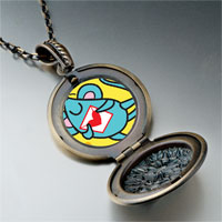 Necklace & Pendants - valentine' s day blue mouse photo pendant necklace Image.