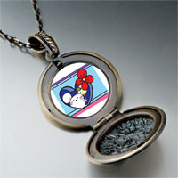 Necklace & Pendants - valentine' s day red rose mouse photo pendant necklace Image.