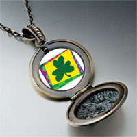 Necklace & Pendants - patrick' s day theme photo round flower pendant shamrock gifts for women necklace Image.