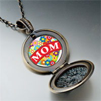 Necklace & Pendants - mother' s day theme photo round flower pendant heart gifts for women necklace Image.