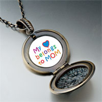Necklace & Pendants - mother' s day theme photo round flower pendant heart belongs for women necklace Image.