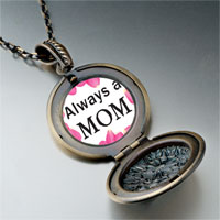Necklace & Pendants - mother' s day theme photo round flower pendant for women necklace Image.
