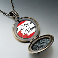 Necklace & Pendants - mother' s day theme photo round flower pendant i love for women necklace Image.