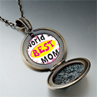 Necklace & Pendants - mother' s day theme photo round flower pendant world' s best for women necklace Image.