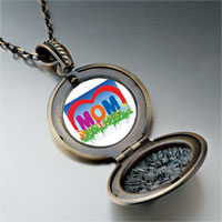 Necklace & Pendants - mother' s day theme photo round flower pendant gifts for women necklace Image.