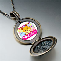 Necklace & Pendants - cartoon theme photo round flower pendant i love for women necklace Image.