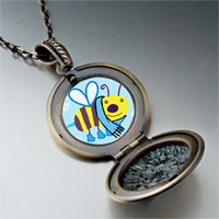 Necklace & Pendants - cartoon theme photo round flower pendant bee cool gifts for women necklace Image.