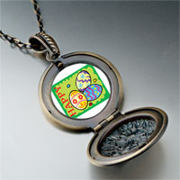 Necklace & Pendants - cartoon theme photo round flower pendant happy easter gifts for women necklace Image.