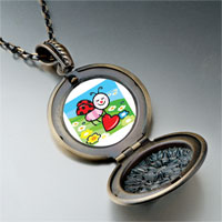 Necklace & Pendants - cartoon theme photo round flower pendant little lady bug easter gifts for women necklace Image.