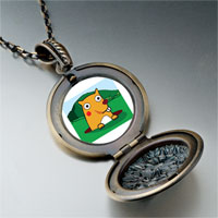 Necklace & Pendants - cartoon theme photo round flower pendant groundhog day easter gifts for women necklace Image.
