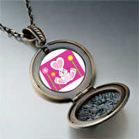 Necklace & Pendants - cartoon theme photo round flower pendant bunny love easter gifts for women necklace Image.