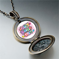 Necklace & Pendants - cartoon theme photo round flower pendant jelly bean girl easter gifts for women necklace Image.