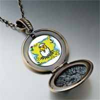 Necklace & Pendants - cartoon theme photo round flower pendant easter gifts for women necklace Image.