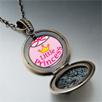 Necklace & Pendants - cartoon theme photo round flower pendant little princess gifts for women necklace Image.