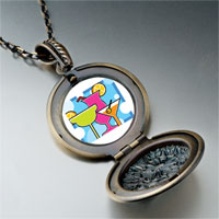 Necklace & Pendants - cartoon theme photo round flower pendant cocktail summer gifts for women necklace Image.