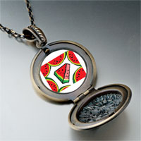 Necklace & Pendants - food watermelon photo pendant necklace Image.
