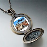 Necklace & Pendants - landmark prague photo pendant necklace Image.