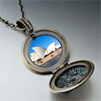 Necklace & Pendants - travel sidney opera house photo pendant necklace Image.