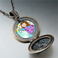 Necklace & Pendants - religion angel &  candle pendant necklace Image.