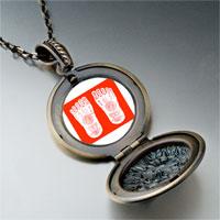 Necklace & Pendants - religion buddhism footprint photo pendant necklace Image.