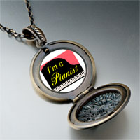 Necklace & Pendants - music am pianist photo pendant necklace Image.