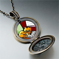 Necklace & Pendants - music piano cat photo pendant necklace Image.
