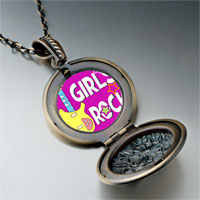 Necklace & Pendants - music theme girls rock photo pendant necklace Image.