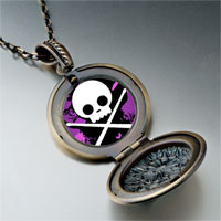 Necklace & Pendants - music theme halloween skull photo pendant necklace Image.