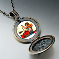 Necklace & Pendants - music theme playing drummer photo pendant necklace Image.