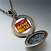 Necklace & Pendants - music theme heavy metal photo pendant necklace Image.