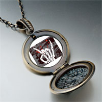 Necklace & Pendants - music theme horror halloween skull sign photo pendant necklace Image.