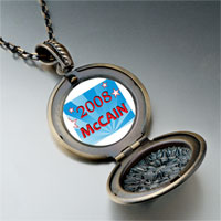 Necklace & Pendants - usa patriotic 2008  mccain photo pendant necklace Image.