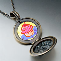 Necklace & Pendants - food cupcake photo pendant necklace Image.