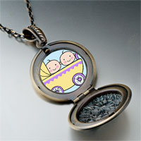 Necklace & Pendants - family twin baby photo pendant necklace Image.