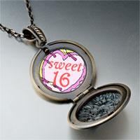 Necklace & Pendants - sweet 16  birthday cake photo italian pendant necklace Image.