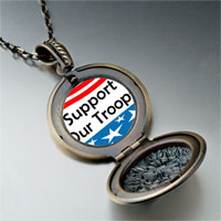 Necklace & Pendants - support our troops photo italian pendant necklace Image.