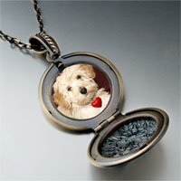 Necklace & Pendants - puppy red heart pendant necklace Image.