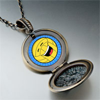 Necklace & Pendants - laughing sparking football photo italian pendant necklace Image.