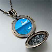 Necklace & Pendants - catching fish photo italian pendant necklace Image.