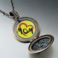 Necklace & Pendants - colorful heart necklace round flower pendant Image.