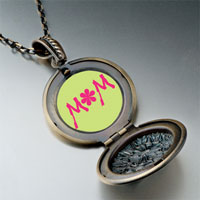 Necklace & Pendants - flower necklace round pendant Image.