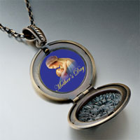 Necklace & Pendants - mother' s day holding baby pendant necklace round flower Image.