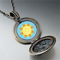 Necklace & Pendants - sun swirl pendant necklace Image.