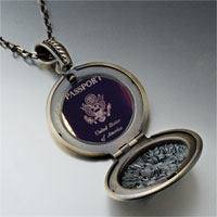 Necklace & Pendants - usa passport pendant necklace Image.