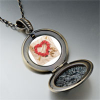 Necklace & Pendants - rose heart wreath arrow pendant necklace Image.