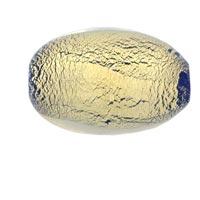 Oval Golden Murano Glass Loose Bead For Charm Bracelets